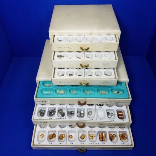 Unitek Aluminum + Polycarbonate Dental Molar Crown Set 6 Drawer Organizer 366 pc