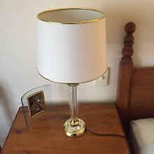 2 Crystal and gold base table lamps  Off white shade Lower Mitcham Mitcham Area Preview