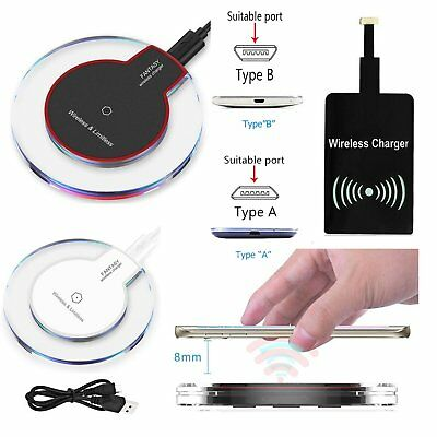 Qi Wireless Charger Charging Pad / Receiver For Samsung Galaxy S3 S4 S5 Note (Samsung Galaxy Note 3 Wireless Charging Pad)