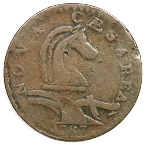 1787 54-k R-3 Serpent Head New Jersey Colonial Copper Coin
