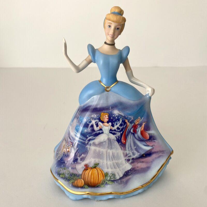 Disney Cinderella Bell Figurine Collectible Bradford Exchange 2004 (82581)