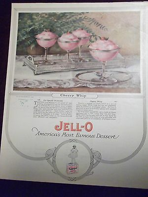 1923 Jell O Cherry Whip Dessert Recipe Advertisement