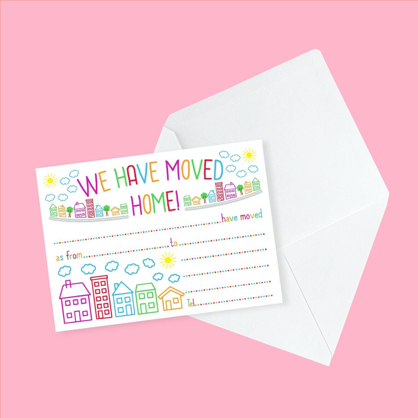 Moving House / Address Cards & Envelopes - 'We Have Moved ...