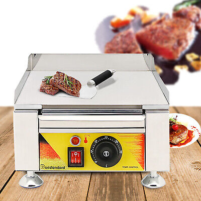 2000w Commercial Electric Fried Flat Cooking Griddle Grill Iron Machine Furnace
