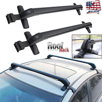 Pair Universal Roof Rack Cross Bar w/ Anti-theft Lock For Car Sedan Pickup SUV