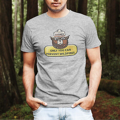 Smokey The Bear Only You Can Prevent Fire T-Shirt Retro Vintage Style Tee Shirt