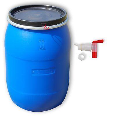 220 Liter Wasserfass frostsicher Gartenfass winterfest mit Ablaufhahn Überlauf