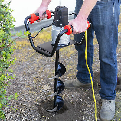 1500w Electric Post Hole Digger With 6 Inch Digging Auger Drill Bit Black