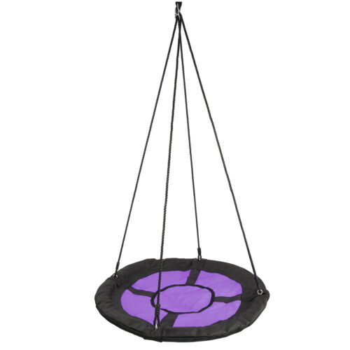 """Round Hanging Rope Web Tree Swing Seat Kids Outdoor Garden Play Toy 100cm/40"""" Outdoor Toys & Structures"""