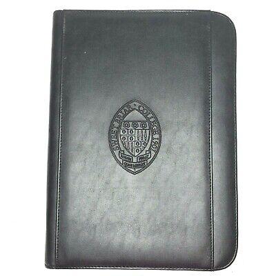 Sweetbriar College Black Zippered Portfolio Notebook Organizer