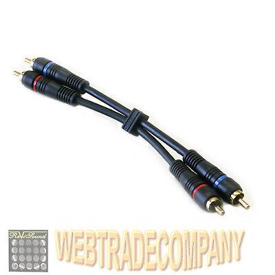 Cinch Brücken Brücke Kabel Kabelbrücke cable jump RCA vergoldet Pre-Amp cable!