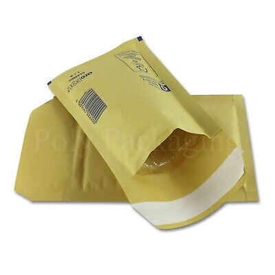 500 x GOLD BUBBLE ENVELOPES 100x165mm(A/000)(EP1)Padded Bags SMALL Postage