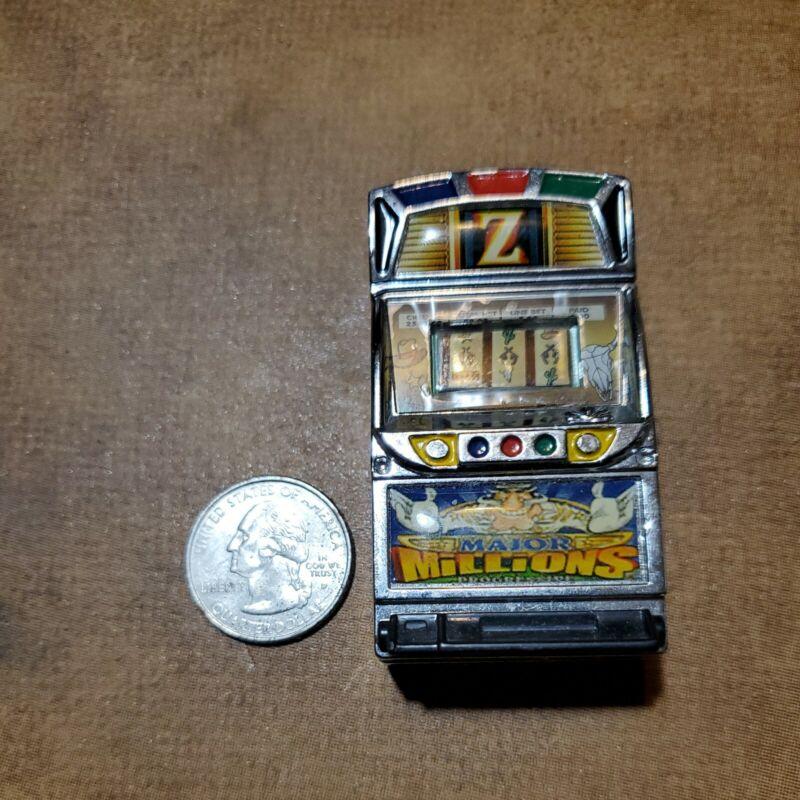 WORKING Novelty Slot Gambling Machine Vintage Lighter Slots Casino Collectible