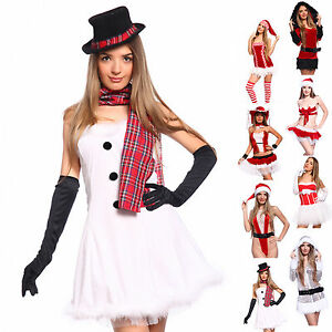 Sexy-Miss-Santa-Claus-Costume-Fancy-Dress-Christmas-Xmas-Hen-Night-Party-Outfit