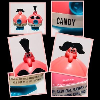 2 Vintage PINK 1987 Topps MARRIED MR & MRS PLUGGO Candy Containers SO CUTE!