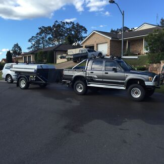 Hilux and camper trailer Rutherford Maitland Area Preview
