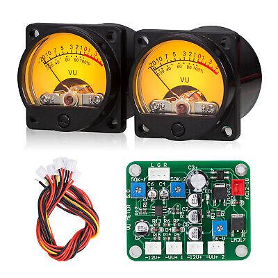 2-pack Vu Meter Db Panel Sound Level Display Driver Board For Diy Amplifier