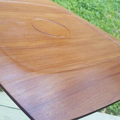 Dansk Knife Edged Staved Teak Serving Tray Platter Quistgaard Design RARE WOODS