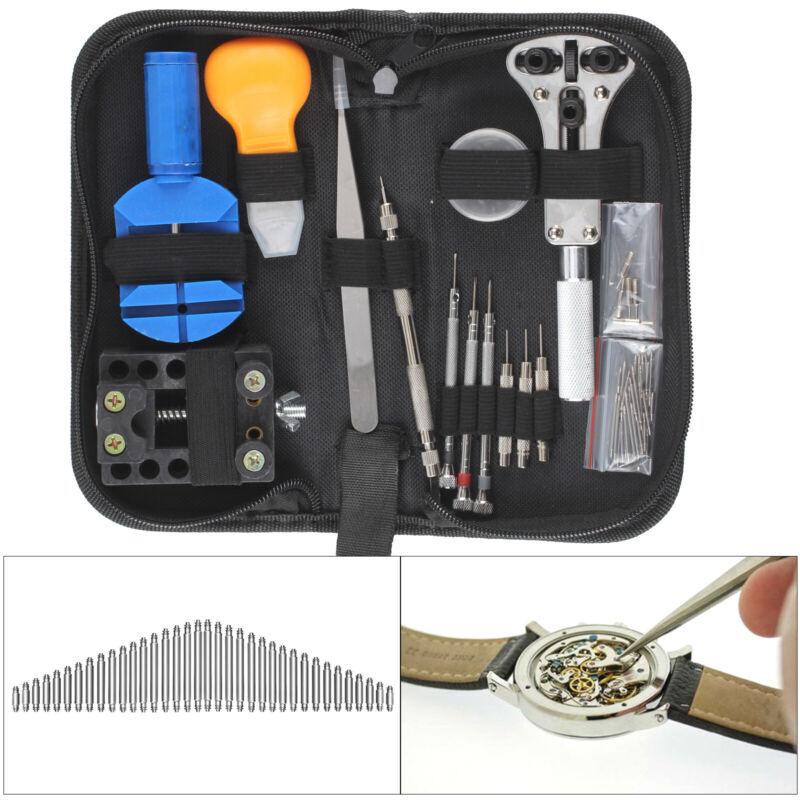 71tlg Uhrmacherwerkzeug Uhr Werkzeug Tasche Reparatur Set Uhrwerkzeug Kit