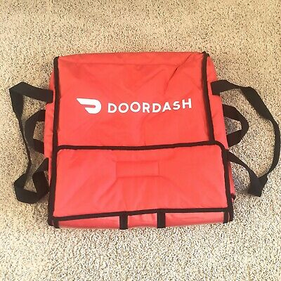 Doordash Official Red Insulated Pizza Delivery Bag 18 X 18 X 5