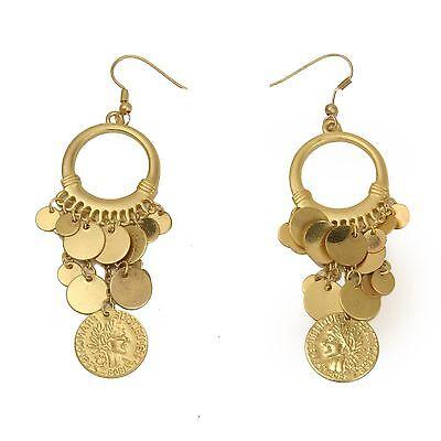 Pair of the 300 TM Spartan Queen Gorgo Coin Earrings (Spartan Queen Gorgo)