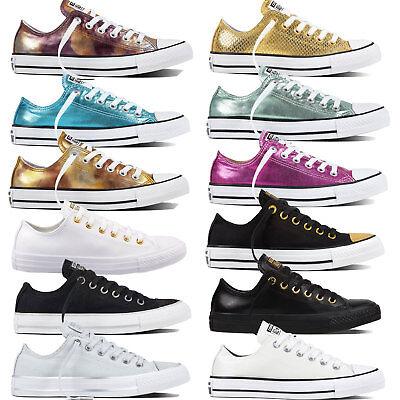 Converse Chuck Taylor All Star OX Damen-Sneaker Turnschuhe Metallic Gold Chucks ()