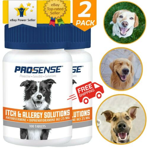 ✅ Itch Allergy Symptom Fast Relief Dog Supplement 100 Chewable Tablets 2 Pack ✅