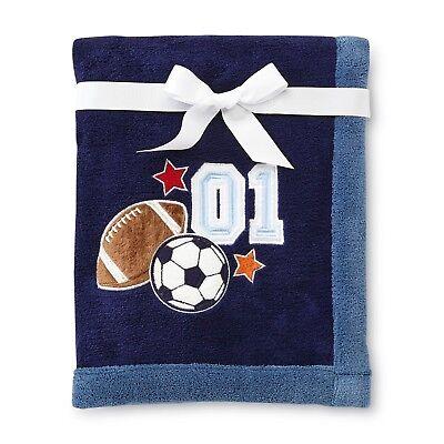 NoJo Little Bedding High Five Sports Football Baby Blanket Super Soft