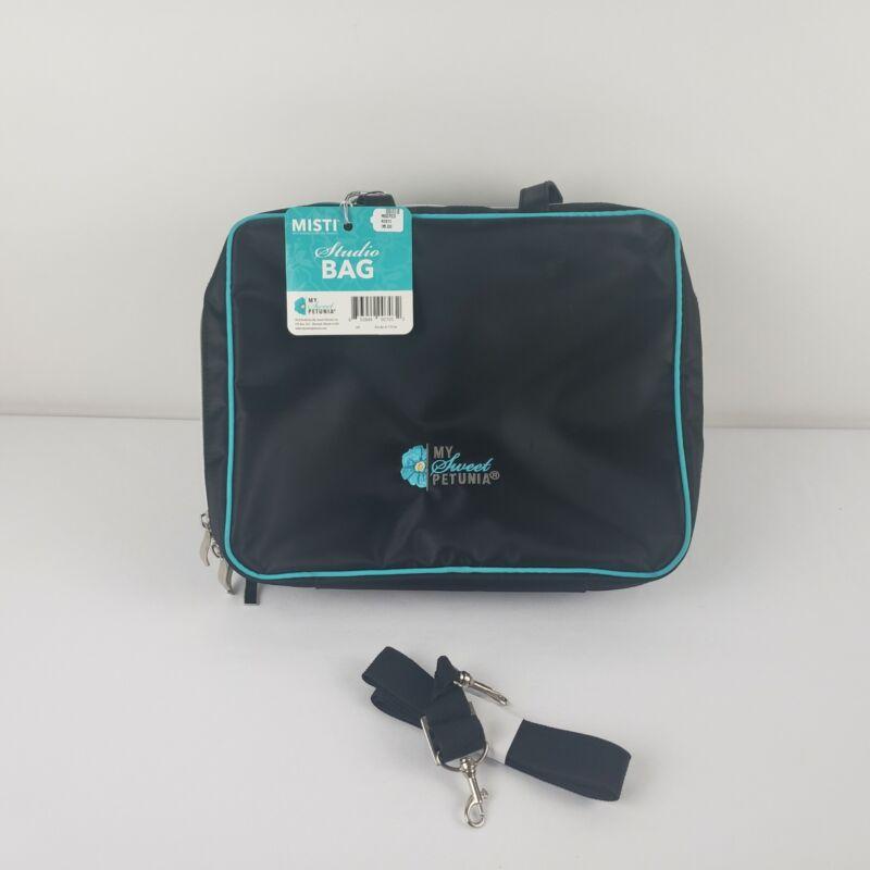 My Sweet Petunia MISTI BAG Tote Travel Black Studio Craft Bag NWT