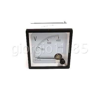 Us Stock Dc 0450v Square Analog Volt Pointer Needle Panel Meter Voltmeter Xt-72