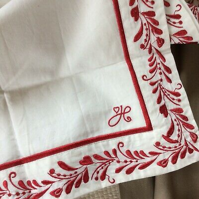 Jan Constantine Embroidered Cotton Pillowcase -FREEPOST
