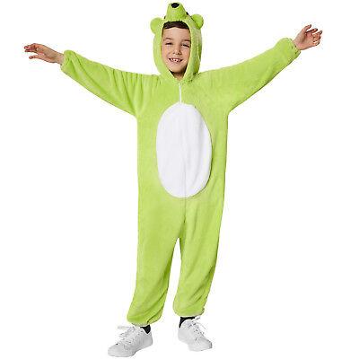 Kinderkostüm Grüner Bär Bären Tierkostüm Teddy Plüsch Overall Karneval - Teddybär Kostüm