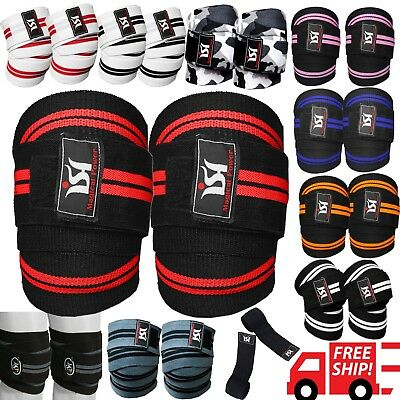 - Gym Weight lifting Knee Wraps Bandage Straps Guard Powerlifting Pads Sleeves
