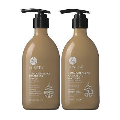 Luseta Jamaican Black Castor Oil Shampoo&Conditioner 16OZ Set for Thin&Dry Hair