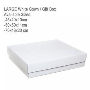 large white cardboard wedding gown dress christening storage gift box organiser ebay. Black Bedroom Furniture Sets. Home Design Ideas