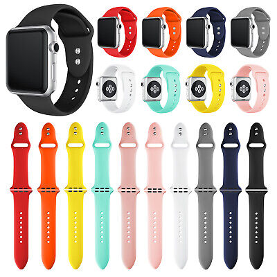 Silicone Bracelet Sports Band Strap For Apple Watch Series 5/4/3/2 38/40/42/44mm