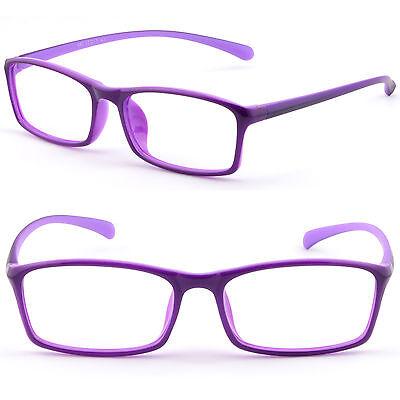 Thin Light Rectangular Bendable Memory Plastic Frame Prescription Glasses (Bendable Prescription Glasses)