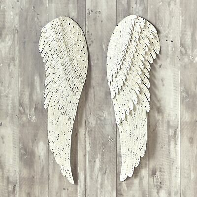 Heavenly Angel Metal Wings - Religious Hanging Wall Decor -