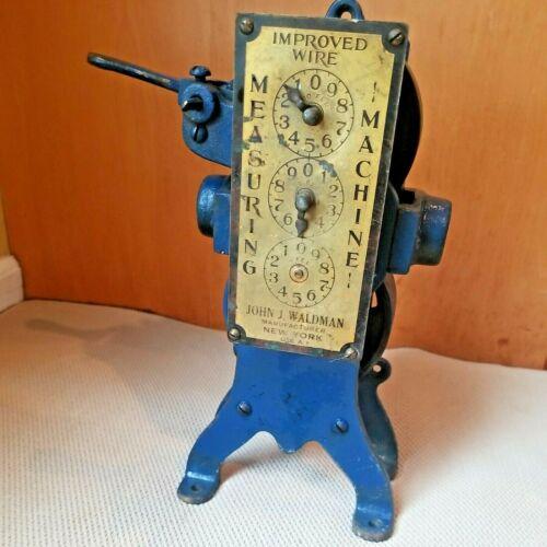 Antique John J. Waldman Improved Wire Measuring Machine, New York USA