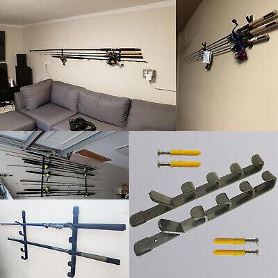 Fishing Rod Hanger (FISHING ROD RACK ROD HANGER ROD WALL MOUNTED HOLDER for 5)