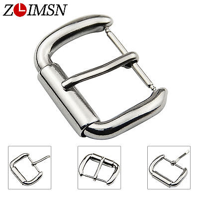 18mm 20mm 21mm Stainless Steel Polished Watch Band Silver Pin Buckle Repair Part