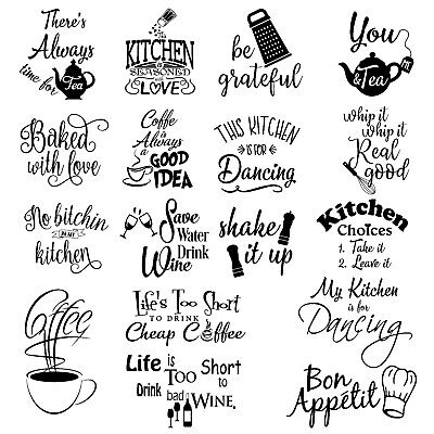 Home Decoration - Wall art stickers for kitchen, removable Home decor quality DIY decal quotes 158