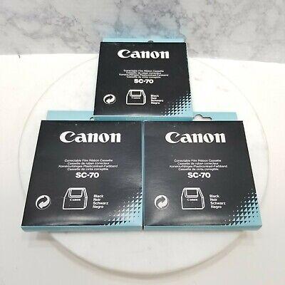 Canon Sc-70 Lot Of 3 Typewriter Ribbon Black Film Ribbon Cassette Correctable