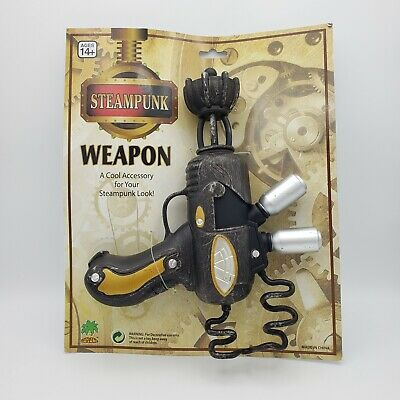 Steampunk Ray Gun Cosplay Halloween Costume Fake Blaster Weapon Prop Space Alien