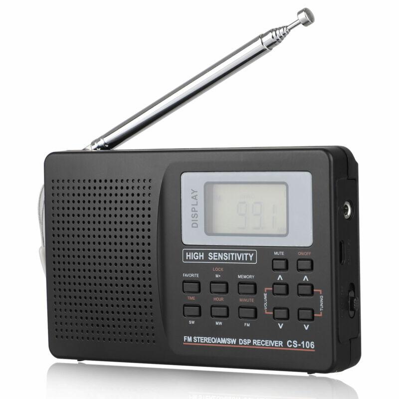 Portable Radio Full World Band AM/FM /MW/SW Digital Radio DSP Stereo Receiver