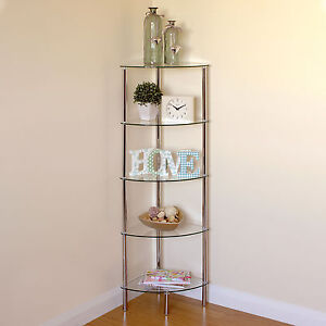 Bathroom Glass Shelf Unit EBay