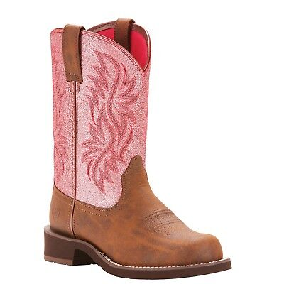 Ariat® Ladies Fatbaby Heritage Tall Pink Western Boots 10025033