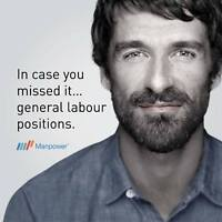 General Labour Jobs. Day Shift. Start Now!