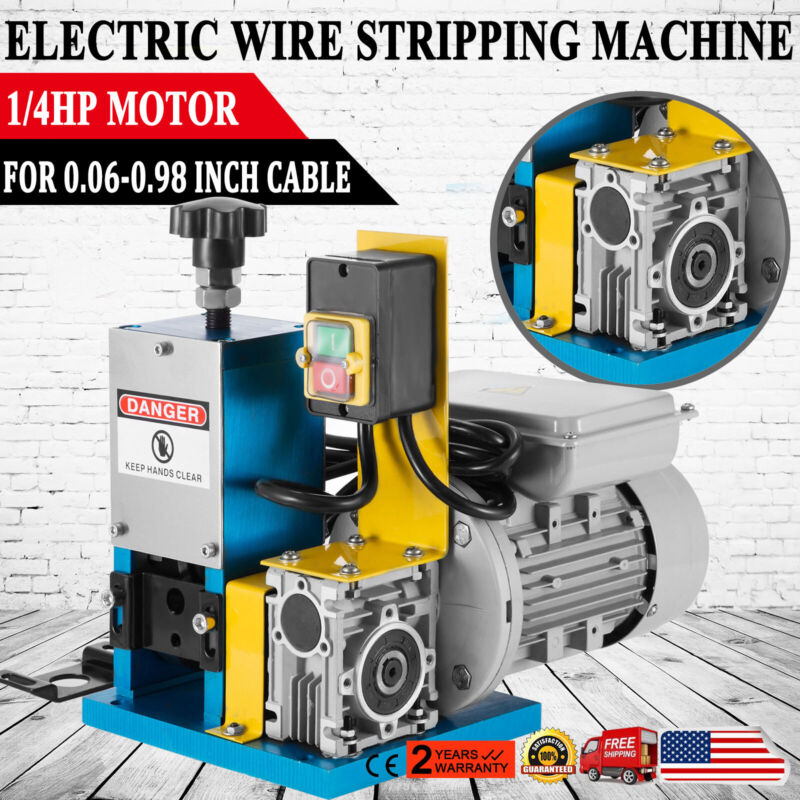 Electric Wire Stripping Machine Copper Cable Peeling Stripper Metal Recycle