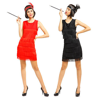 20er 30er Jahre Karneval Kleid Kostüm Flapper Charleston Tanz Kleid mit Haarband